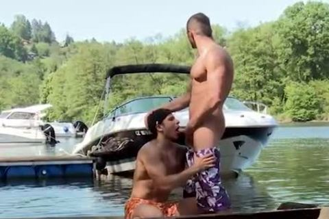 engulfing penis And Getting nailed On A Boat