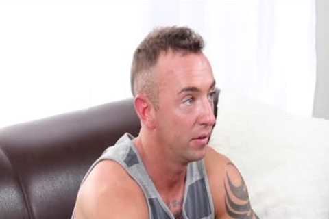 GayCastings Tatted Muscle dude Jerks Off On web camera For $