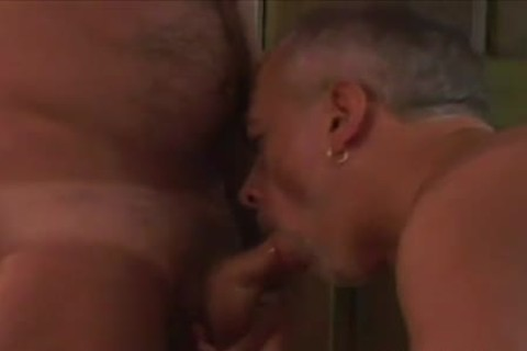 Tanned daddy gay ramrod Slurping