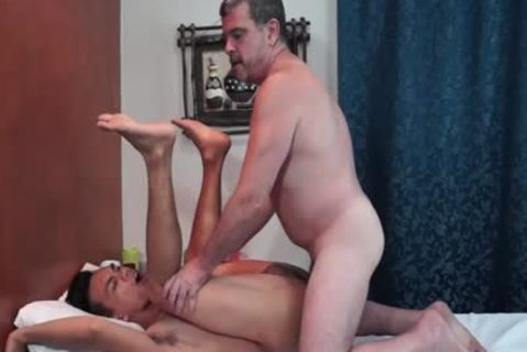 juvenile oriental chap Services daddy White lad At A Massage