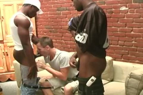 black Thugs Sharing The butt Of A Whiteboi