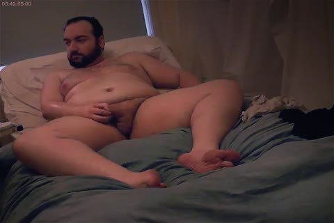 Bear Chub Lotions Body And Cums On cam