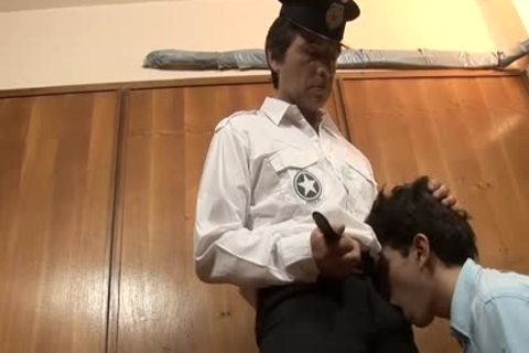 A Very stylish guys Named Ryan gets fucked Very roughly By The Officer James