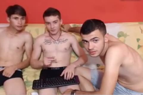 3 Romanian appealing sexy Straight twinks Youngin Go homo For Pay On web camera
