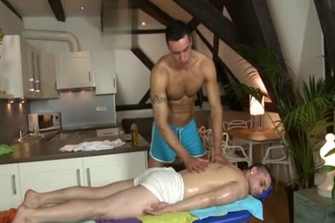 throbbing 10-Pounder Daddy irrumation-sex With Massage