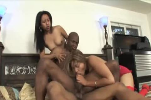 juicy Foursome Session With Two black Sweethearts