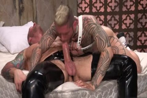 Tattoo'd Muscle Beefcakes With Bum Love Behind drilling Fetish take up with the tongue penis And Take A cumshot