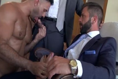 Muscle gay 3some And goo flow