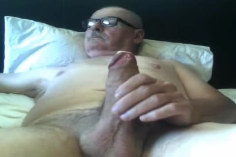 old man stroke On web camera