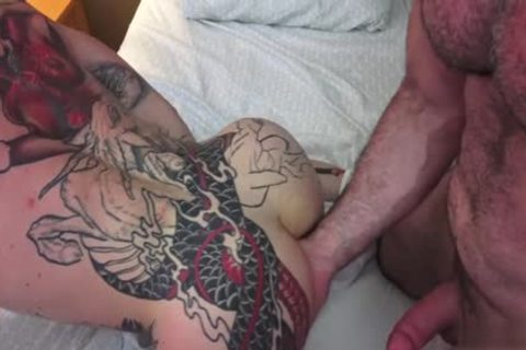 Tattoo gay butthole To face hole With Creampie
