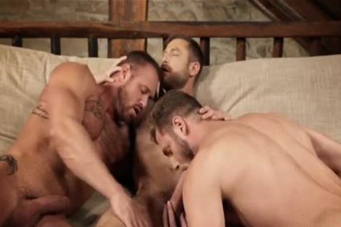 pumped up trio unprotected And Creampie